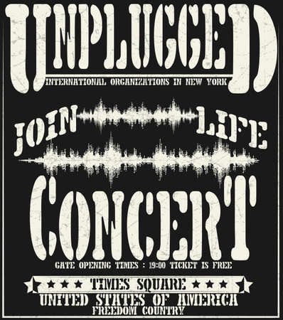 hard rock: Vintage concert typographic for t-shirt ,tee design,poster,vector