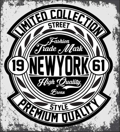 Vintage New York typography, t-shirt graphics