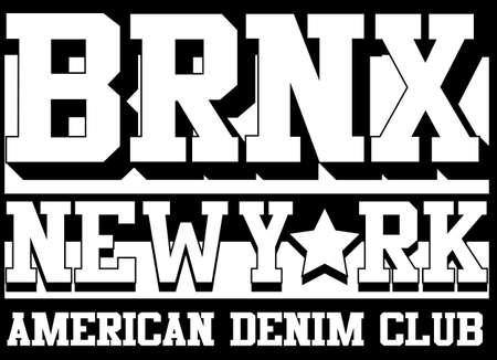 bronx: Bronx New york typography, t-shirt graphics, vectors