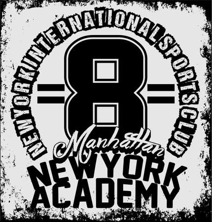 sport training: New york athletic sport training typography, t-shirt graphics
