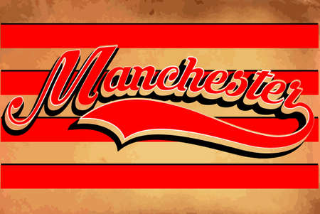 manchester: MAnchester typography sports graphic