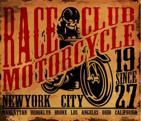 Motorcycle T shirt graphic design. Векторная Иллюстрация