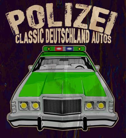 highway patrol: The vintage police car