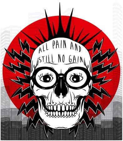 halloween tee shirt: Tee graphic skull poster Illustration