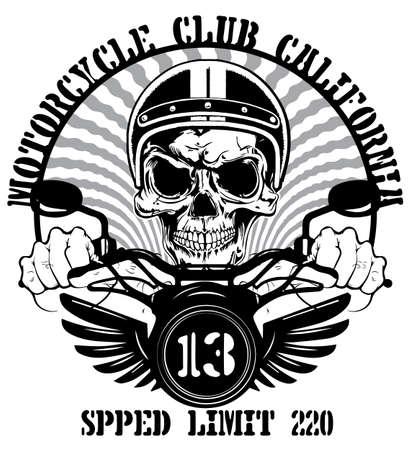 Tee grafisch ontwerp motorfiets man witte achtergrond