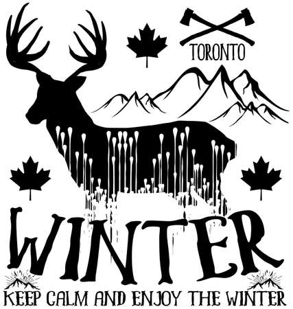t ski: Tee winter graphic design Illustration