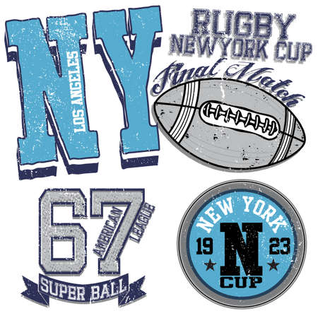 varsity: college graphics for t-shirt new york rugby