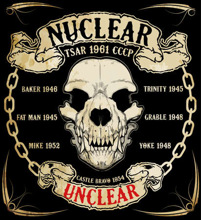 halloween tee shirt: Skull graphic design with slogans Illustration