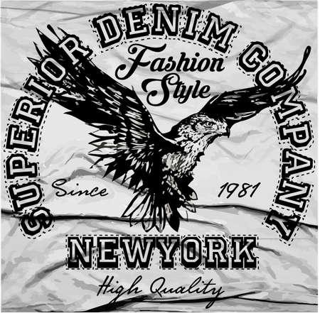 americana: Vintage Americana Eagle Graphic Illustration