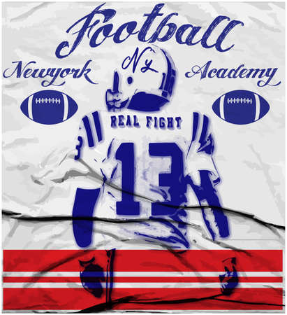 College football graphics voor t-shirt, graphics Stockfoto - 53904030