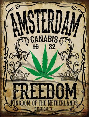Amsterdam affiche vintage