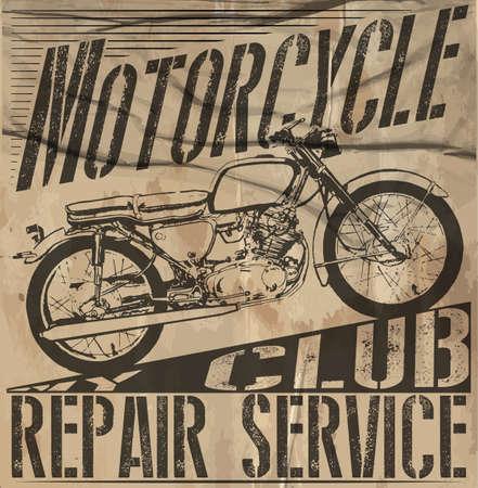 Vector de la motocicleta del vintage jinetes Set.skull conjunto moto vectorial