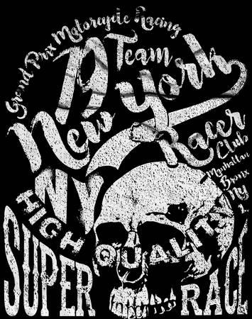 tee: Skull Tee Graphic Design Illustration