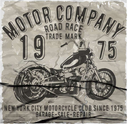 imagery: Motorcycle Racing Typography Graphics and Poster. Skull and Old school bike. T-shirt Design; vector illustration