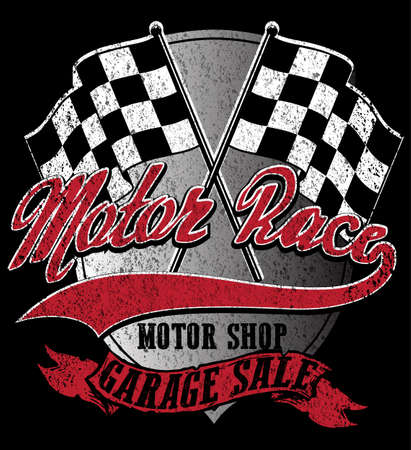 t shirt printing: Motor sports logo graphic design