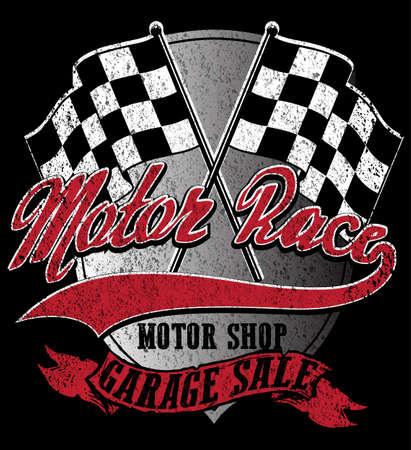 Motor sports logo graphic design