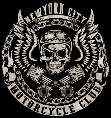 Schädel-T-Shirt Graphic Design Vektorgrafik