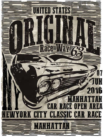 brand new: Vintage Classic Garage - Vector EPS10. Grunge effects can be easily removed for a brand new, clean sign.