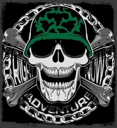 Skull Tee Graphic Design Illustration