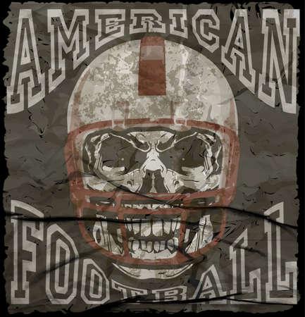 Impresión vector de la vendimia de fútbol americano para ropa deportiva chico en la costumbre Foto de archivo - 56721349