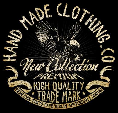 Eagle t-shirt grafische Stockfoto - 56646362