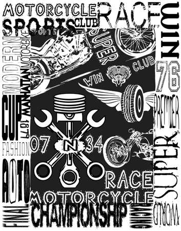 old school: vintage race car for printing.vector old school race poster.retro race car set