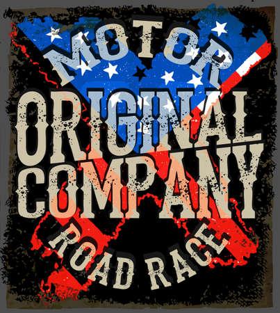 Motorcycle typografie, vintage motor, t-shirt graphics, vectoren Stockfoto - 56738380
