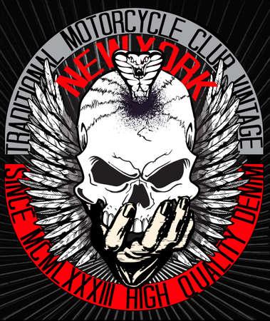 La camiseta del cráneo Diseño gráfico Foto de archivo - 56738355