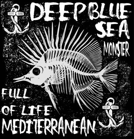 devilfish: Animal sea tee graphic Illustration