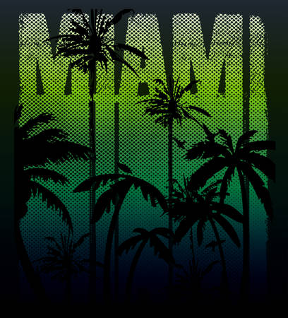 malibu: vector illustration of a cool surfing in Miami. Miami surfing design for graphics for t-shirt, vintage design summer design