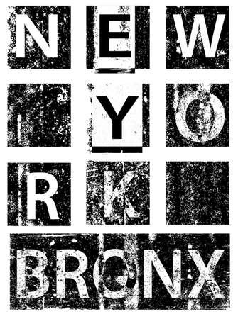 New york city typography, t-shirt graphics, vectors Ilustração