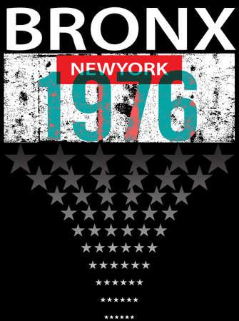 bronx: Bronx ew York sport typography, t-shirt graphics, vectors