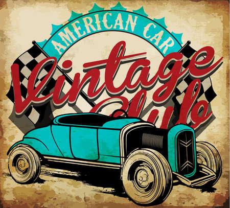 Classic Garage - Vector EPS10 Tee Graphic Design