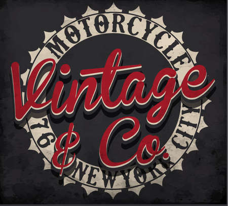 old new york: Motorcycle typography; t-shirt graphics; vectors Illustration