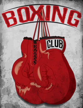 los guantes de boxeo camiseta gráfica Ilustración de vector