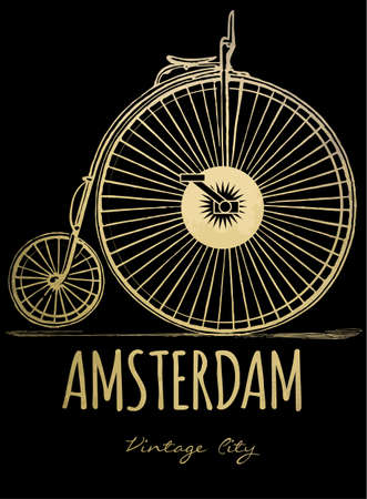 amsterdam: Vector city background. Amsterdam