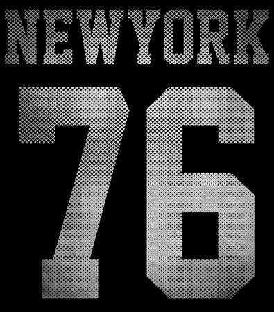 jersey: College New York typography; t-shirt graphics.
