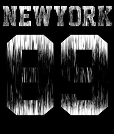 College New York typography; t-shirt graphics.