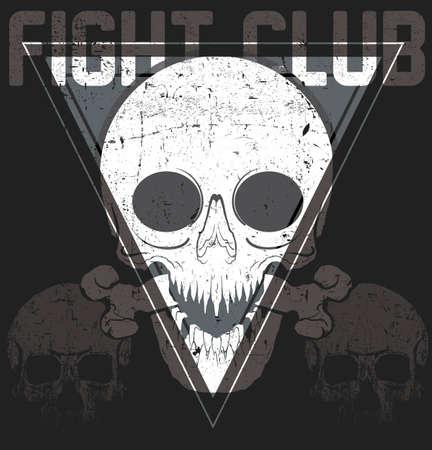 Skull T shirt Graphic Design 向量圖像