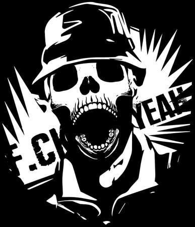 poison symbol: Skull T shirt Graphic Design Illustration