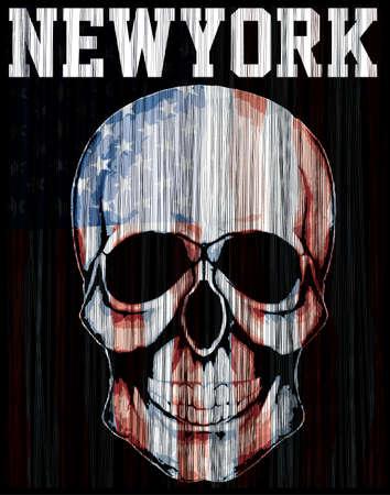 American flag skull