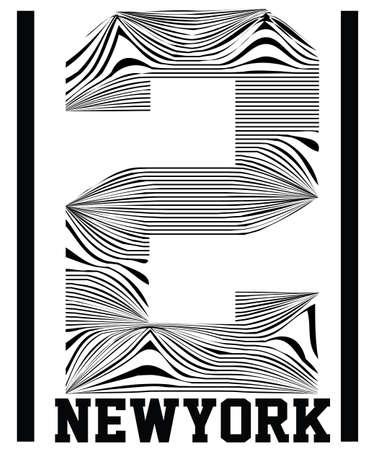 Number typography, t-shirt graphics, vectors, sport,