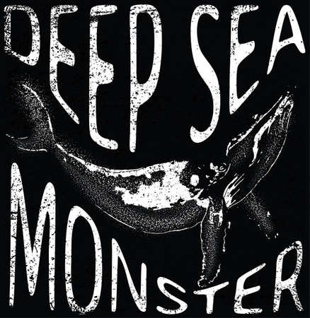 sea monster: Sea monster tee graphic design