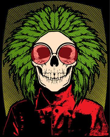 Skull T shirt Graphic Design 矢量图像