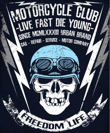 Skull T-shirts Graphic Design Motor Club