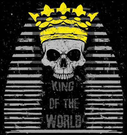 Vector illustration Egyptian Skull T-shirts Graphic Designer