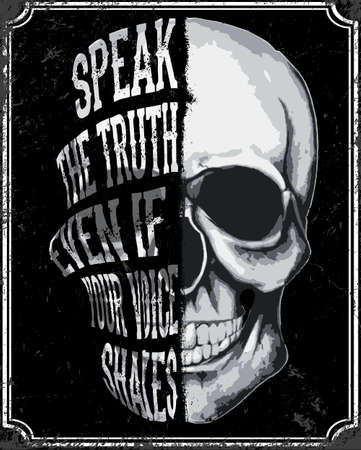 Skull T shirt Graphic Design Vectores