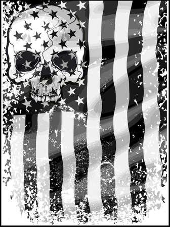 Crânio T shirt Design Gráfico Foto de archivo - 68761036