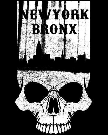 t shirt: Skull T shirt Graphic Design Illustration