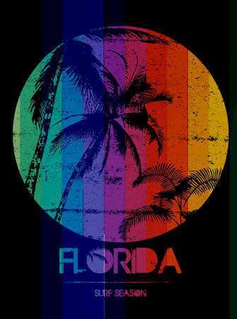 Florida summer tee graphic design Illustration